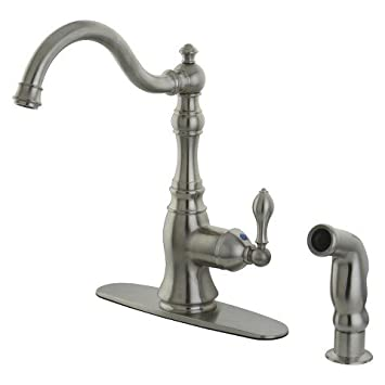 Classic Single Handle Satin Nickel Kitchen Faucet
