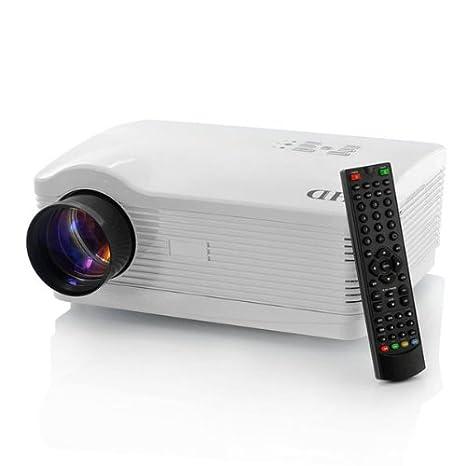 Sourcingbay Projecteur Home Cinema LED Hd 720p avec 3 ports Hdmi/USB/VGA - Résolution:1280 x 768, 3000 Lumens, Contrast: 2000:1 (blanc)