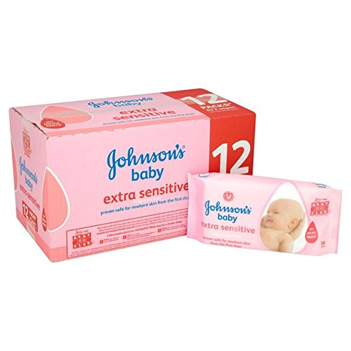Bébé de Johnson extra sensible lingettes 12 x 56 par paquet