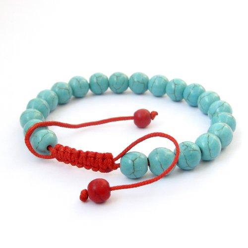 OVALBUY 8mm Hand Crafted Beads Buddhist Wrist Mala Bracelet for Meditation