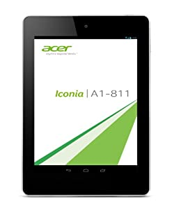 Acer Iconia A1-811 3G 20,1 cm (7,9 Zoll) Tablet-PC (ARM MT8389, 1,2GHz, 1GB RAM, 16GB SSD, MT8389, Android OS) smoky grau
