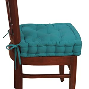 Homescapes Teal Blue Dining Garden Chair Booster Cushion Or Seat Pa