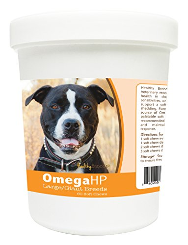Healthy Breeds 60 Count Pit Bull Omega-HP Skin & Coat Soft Chews for Large/Giant Breeds (Omega Hp compare prices)