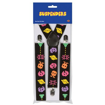 Arcade Suspenders (adjustable) Party Accessory  (1 count) (1/Pkg)