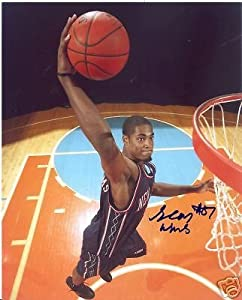 Sean Williams New Jersey Nets Signed 8x10 Photo W COA by Hollywood Collectibles