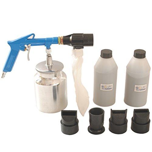 Druckluft-Sandstrahlpistole-Set-6-8-bar-mit-2-Behlter-Strahlgut-4-Dsen
