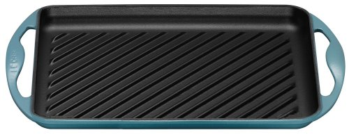 Le Creuset Cast Iron Rectangular Grill, Teal