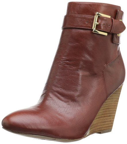 Nine West Women'S Zapper Boot,Cognac Leather,7.5 M Us