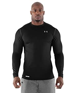 Under Armour Men's ColdGear® Fitted Long Sleeve Crew Large Black