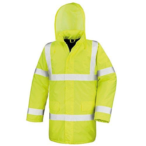 Result Core High-Viz Motorway Coat (Waterproof & Windproof) (M) (Hi-Viz Yellow)