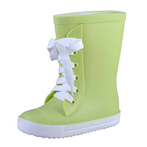 VICVIK Fashion Green Rain Boot (Toddler/Little Kid/Big Kid/Boy/Girl)(26) (Good Rain Boots compare prices)