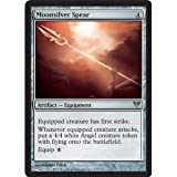 Equipped Rare Magic Angel Creature : the Gathering - Moonsilver Spear (217) - Avacyn Restored Toy / Game / Play / Child / Kid