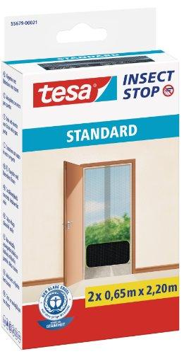 tesa-fliegengitter-fur-turen-standard-anthrazit-durchsichtig-2-x-065m-x-22m