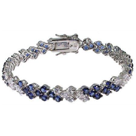 Sasha's Stunning Sapphire & White CZ Tennis Bracelet