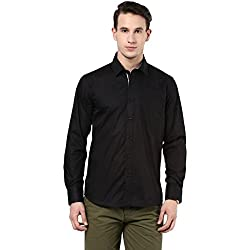 MENS COTTON SHIRT BLACK M