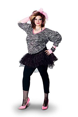 Sunnywood Women's Plus-Size Lava Diva Hip Hop 80's Costume, Multi, X-Large