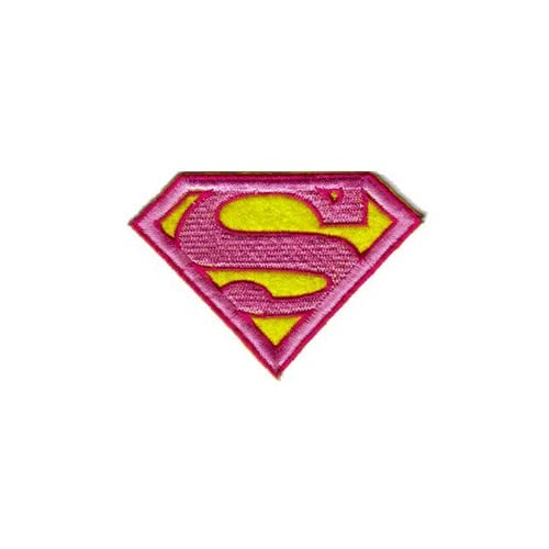 Amazon.com: 8cm Pink Superman Supergirl Superhero Logo Chest Iron on