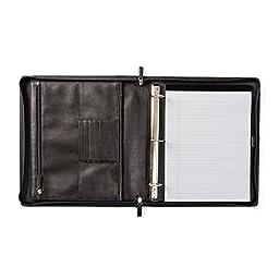 Padfolio Binder - Full Grain Leather - Black Onyx (black)