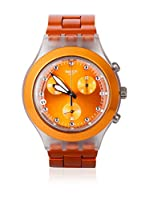 Swatch Reloj de cuarzo Unisex FULL-BLOODED NARANJA SVCK4051AG 43 mm
