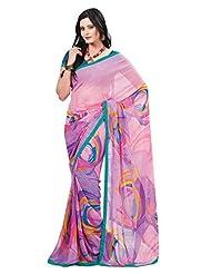 Indian Designer Sari Classy Contemporary Printed Faux Georgette Saree By Triveni