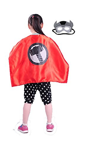 Superhero THOR CAPE AND MASK SET Super Hero **Ships from US** Halloween costume