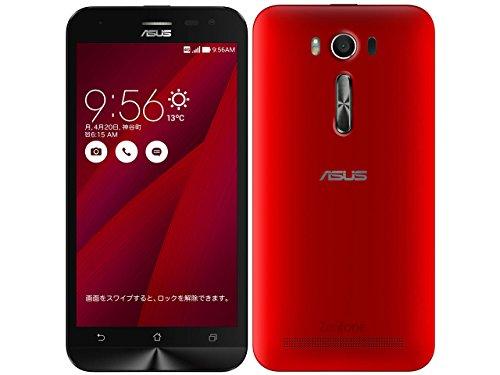 エイスース SIMフリースマートフォン ZenFone 2 Laser(Qualcomm Snapdragon 410/メモリ 2GB)16GB レッド ZE500KL-RD16