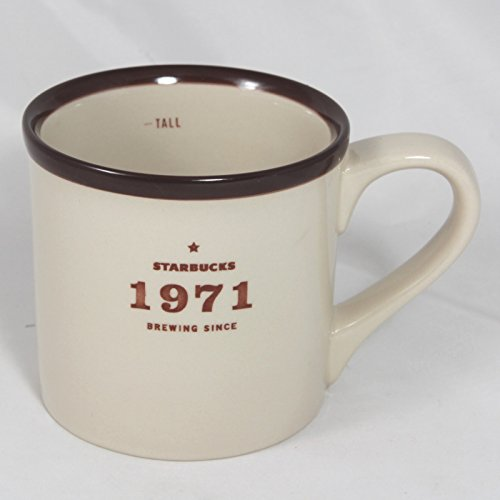 "Starbucks Coffee 2010 Brown ""Brewing Since 1971"" Mug 14 Oz."