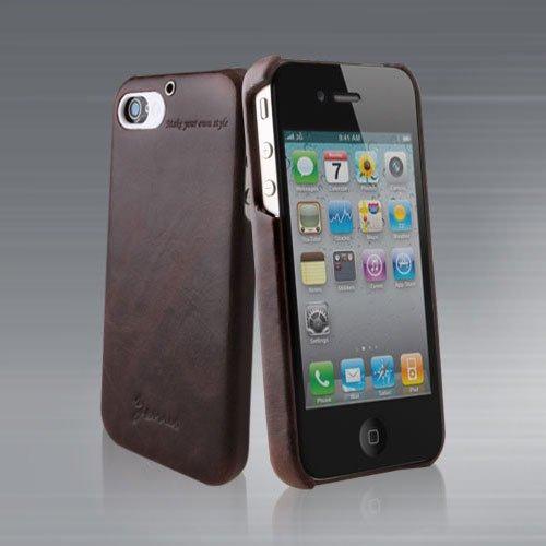 ZENUS iPhone4 バータイプ Masstige レザーケース (ブラックチョコレート)