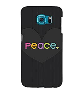 Peace in Love 3D Hard Polycarbonate Designer Back Case Cover for Samsung Galaxy S6 :: Samsung Galaxy S6 G920