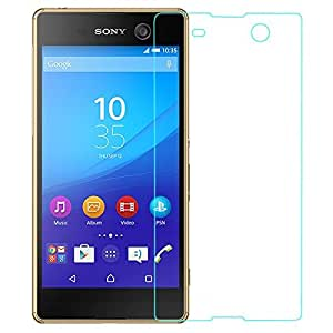 CELLTONE ( TM) TEMPERED GLASS SCREEN GARD FOR SONY XPERIA M5 - Easy to install - Perfect Size Fitting And Proper Hole for Front Proximity Sensor - Bubble free Glass (High Quality Japanes Asahi Glass - Korean Glue Used) - 0.25mm Thin Glass-2.5d Glass- 9h Hard Strong