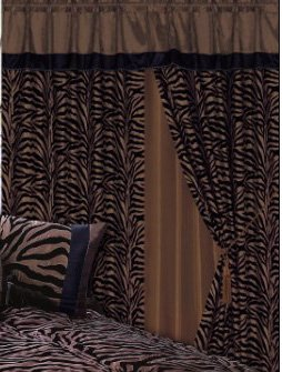 Discount 3 Layer Modern Chocolate Brown Black Zebra Print
