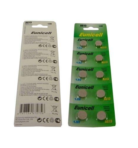 ElectronicWorld Lot de 10 piles boutons AG13 LR44 L1154 357 A76 SR44 G13