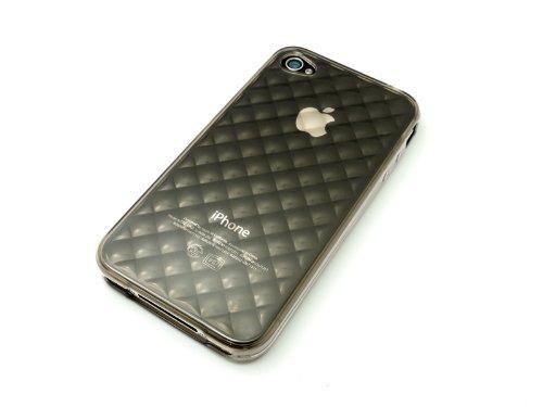 レイアウト iPhone4 キラキラソフトジャケット ブラック RT-P3C7/B