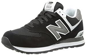 New Balance Men's ML574 Classic Sneaker,Black/White,16 D US