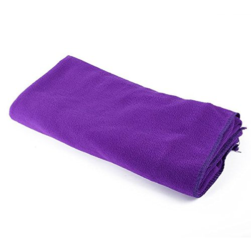 80X140Cm Microfibre Sports Travel Gym Fitness Beach Swim Camping Bath Towel (Purple) front-1074688