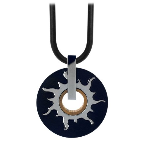 Inox Jewelry Pendants 316L Stainless Steel, PVD Black, PVD Gold Suns, Spinners, Rotating (Pendant Only)