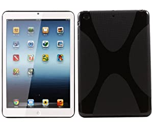 iTALKonline ProGel WAVE X-Line Duro Protector Case Grip TPU Cover Per Apple iPad Mini - Nero