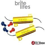 Jtech 2x 50W 6 Ohm Load Resistors for LED Light Bulbs (Fix Hyper Flash, Error Messsage)