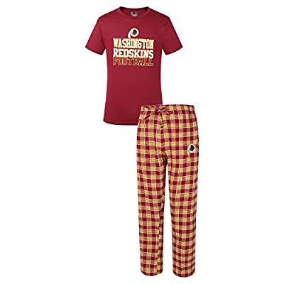 Washington Redskins NFL Medalist Men's T-shirt & Flannel Pajama Pants Sleep Set