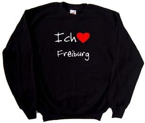Ich Liebe Freiburg Pulli, Schwarz