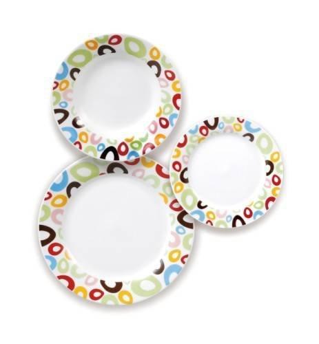 Excelsa vajilla de 18 piezas decorado pop - Vajilla de diario ...
