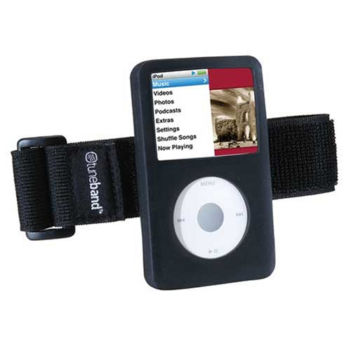 Tuneband for iPod Classic 160GB (NEWEST), Grantwood Technology's Armband, Silicone Skin, and Screen Protector, (Released 09/09), Black