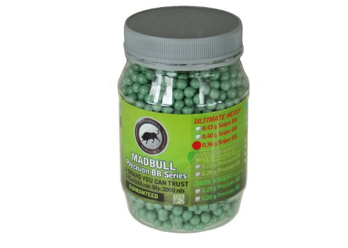 Mad Bull .36g Sniper Airsoft BBs – 2000 ct