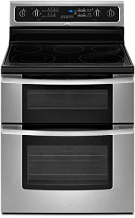 "Whirlpool GGE388LXS Gold 30"" Stainless Steel Electric Smoothtop Double Oven Range"