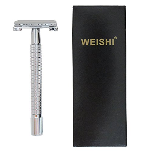 WEISHI-Chrome-Long-Handle-Version-Butterfly-Open-Double-Edge-Safety-Razor