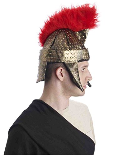 Forum Novelties Roman Gladiator Warrior Gold Red Costume Helmet