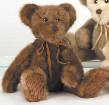 Minky Bear, 7 Inches Seated - Chocolate Brown