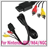 Brand New Composite AV Lead TV Audio Video RCA Cable Scart For Nintendo N64 Gamecube 64/NGC/SFC With standard for N64 input connector, video output connector and 2 audio output connectors Connects for Nintendo NGC/N64/SFC console to transfers A/V signals
