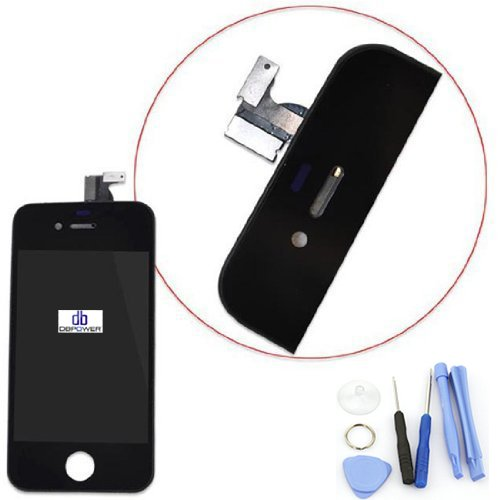 Dbpower For Iphone 4 At&T Gsm Replacement Lcd Digitizer Touch Screen Front Glass Assembly Black
