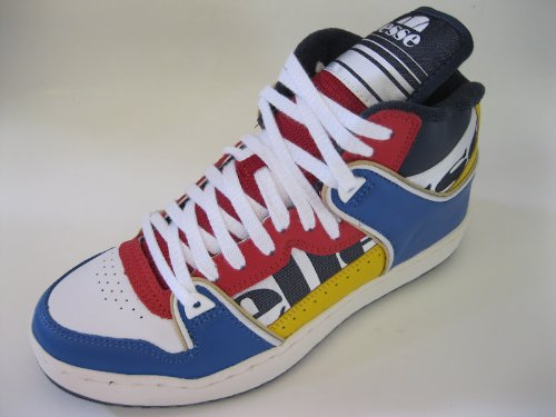 UNISEX ELLESSE HI TOP TRAINERS ASSIST 1 WHITE/BULE/RED/NAVY EHOUB307LS S5Y UK SIZE 9.5